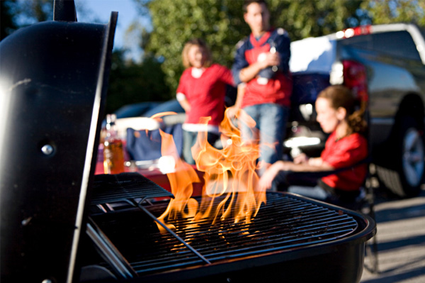 Photo of grill fire