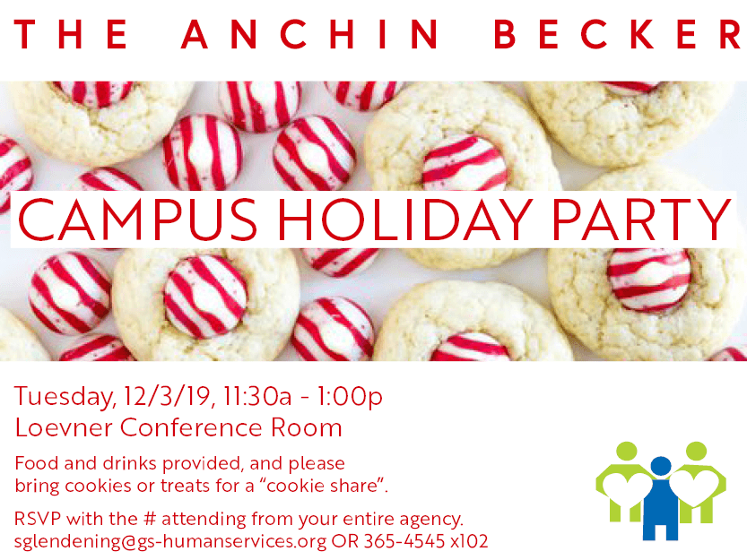 Campus Holiday party flyer