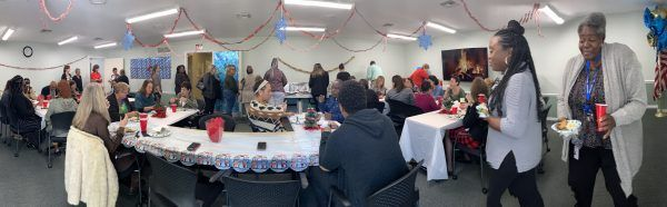 Panorama of the Holiday Lunch