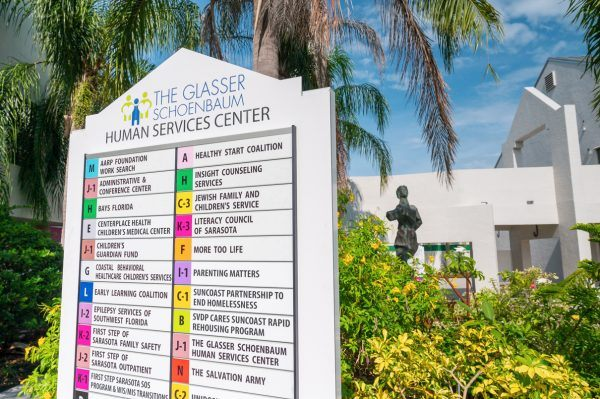 Photo of the Center's directory sign