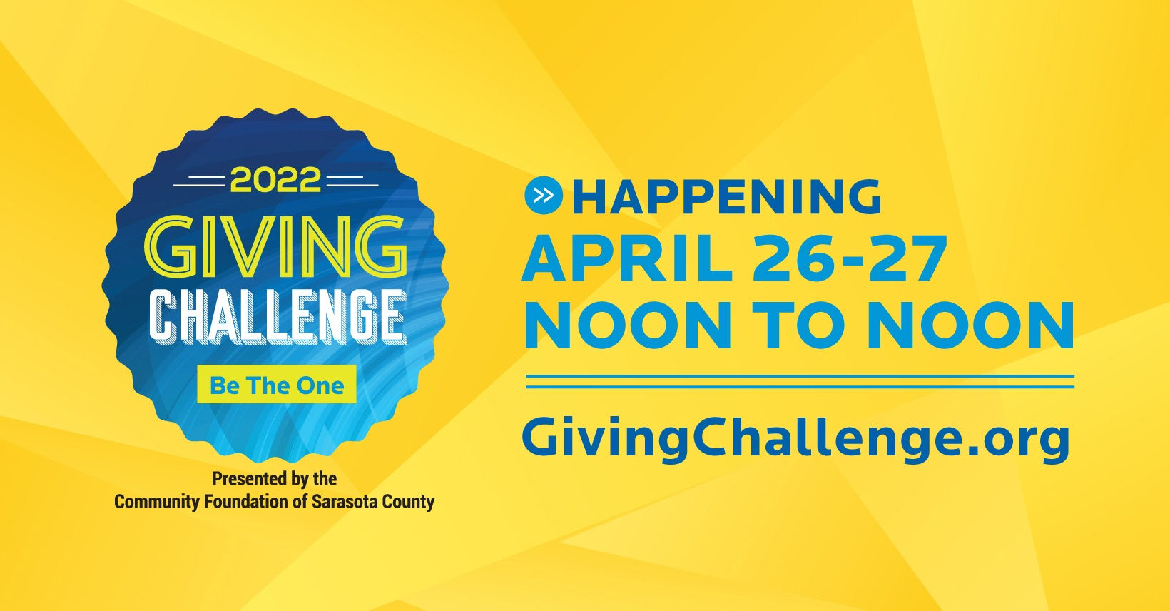 Giving Challenge event date and logo